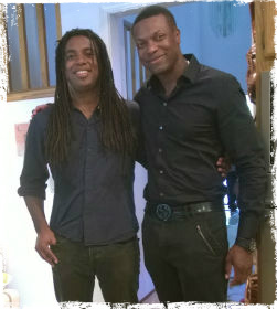 Chris Tucker and me grunge frame