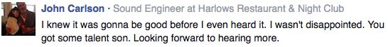 Facebook Feedback You Got Talent Son!