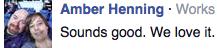 Facebook Feedback We Love It!